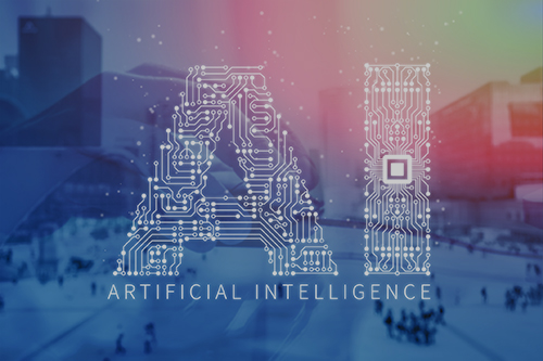 Image of artificial intelligence as a headline